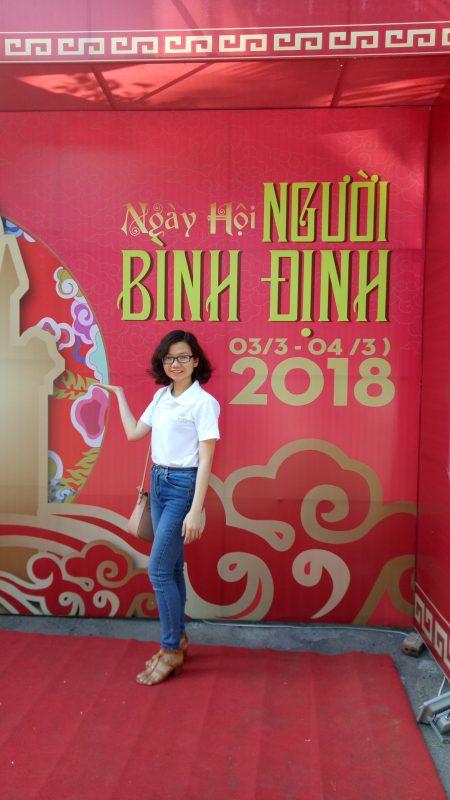 Tôi - Đặng Thị Như Hà - Chủ sáng lập tinh dầu tràm Dagiafa tham gia Hội đồng hương Bình Định