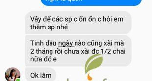 Chị Loan khen tinh dầu tràm Dagiafa dùng tiết kiệm