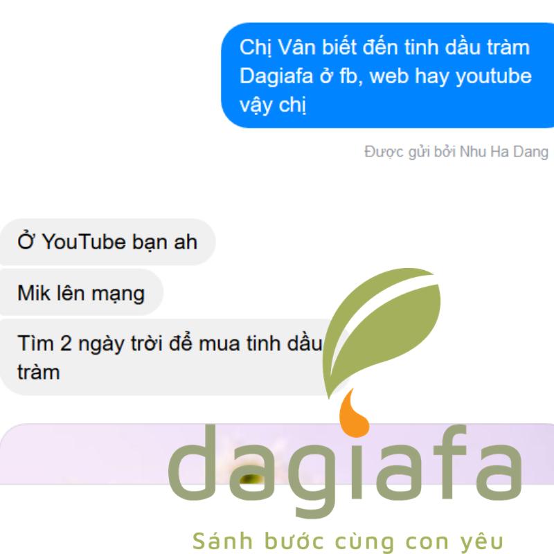 Chị Vân tìm suốt 2 ngày để mua tinh dầu tràm nguyên chất cho bé