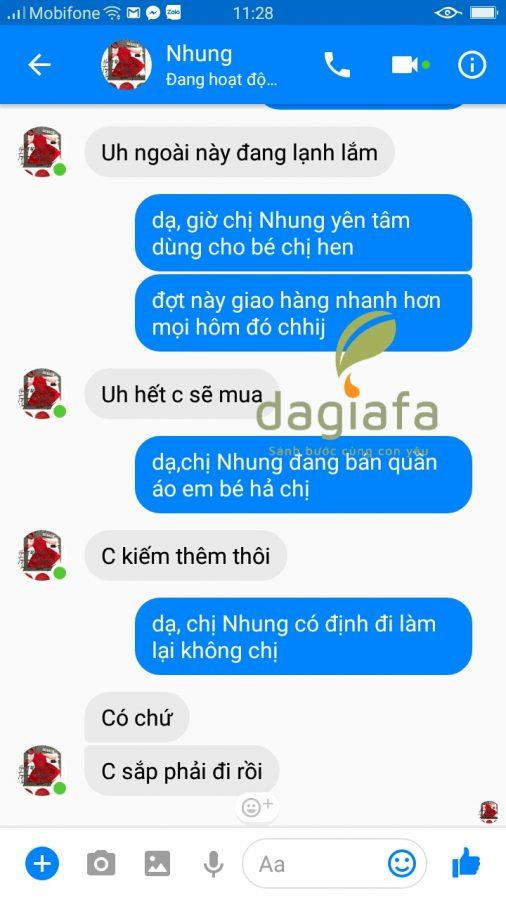 Chị Nhung đặt mua thêm tinh dầu tràm Dagiafa