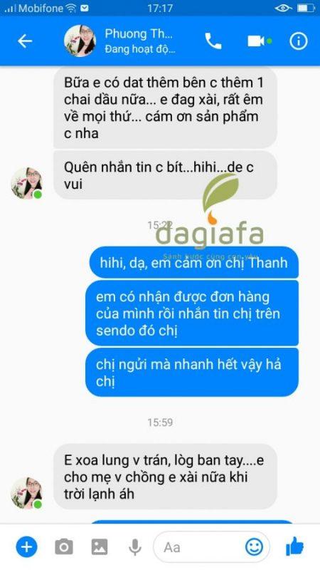 Chị Thanh mua tinh dầu tràm Dagiafa