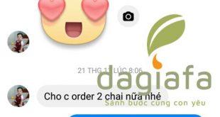 Chị Thiện mua thêm tinh dầu tràm Dagiafa