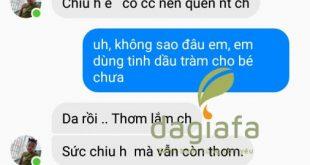 Chị Trang khen tinh dầu tràm Dagiafa thơm lâu