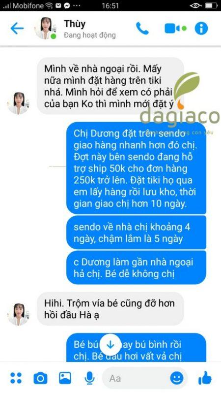 Chị Dương đặt mua thêm tinh dầu tràm Dagiafa cho bé