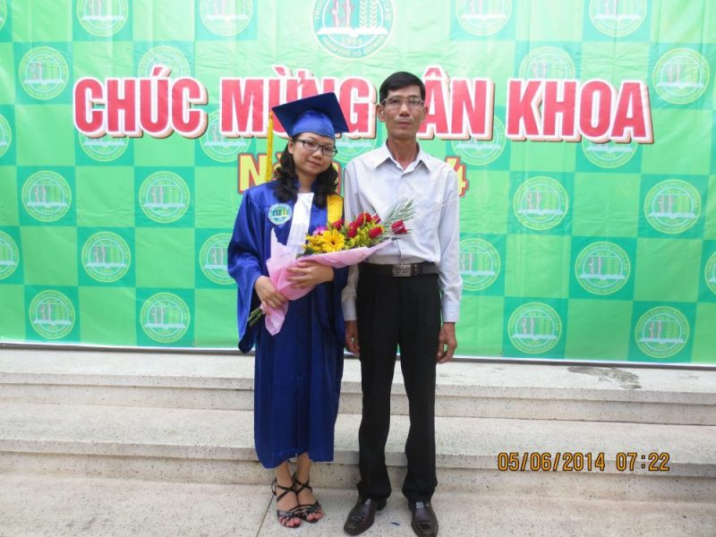 Chị Đặng Thị Như Hà ngày tốt nghiệp đại học