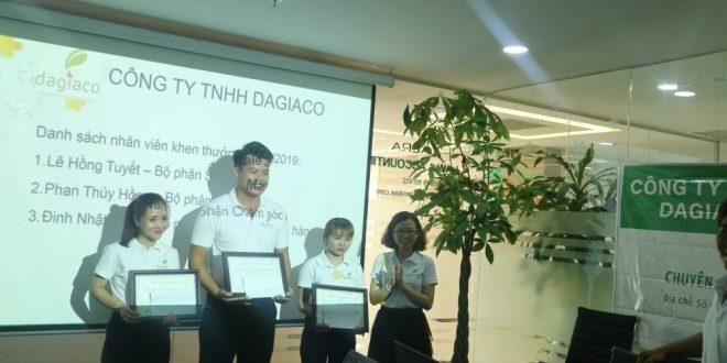 Khen thưởng nhân viên công ty Dagiaco