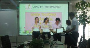 Khen thưởng nhân viên công ty Dagiaco quý 3